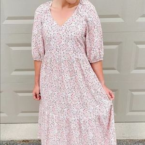 H&M light pink floral Dress